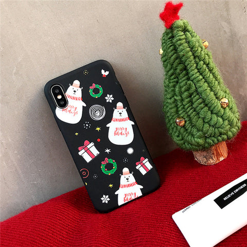 iPhone XS Case 3D Cartoon Snowman Bear iPhone Cover-CoolDesignOnline