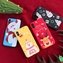 iPhone X Case 3D Cartoon Christmas Bear iPhone Cover-CoolDesignOnline