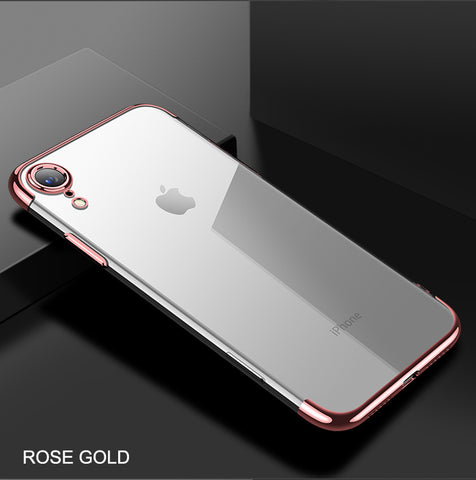 iPhone XR Case Anti-scratch Electroplating Protective Cover Rose Gold-CoolDesignOnline