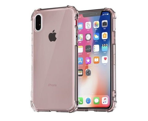 iPhone XS Case Four Corner Strengthen Silicon Clear iPhone Cover Rose Gold-CoolDesignOnline
