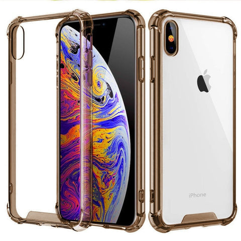 iPhone XS Case Four Corner Strengthen Silicon Clear iPhone Cover T2-CoolDesignOnline