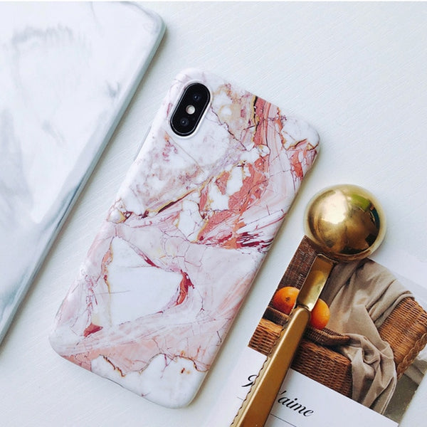 iPhone XS Case Pink Marble iPhone Cover-CoolDesignOnline