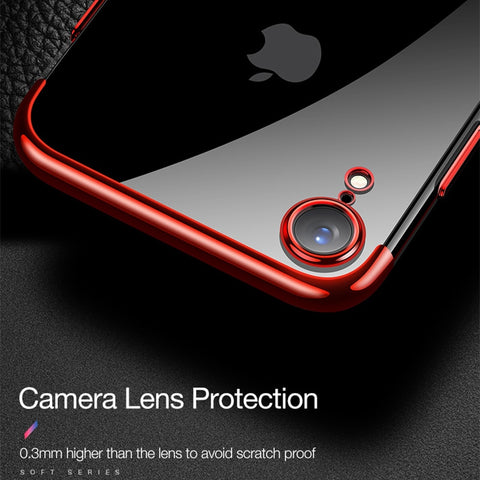 iPhone XR Case Anti-scratch Electroplating Protective Cover Black-CoolDesignOnline