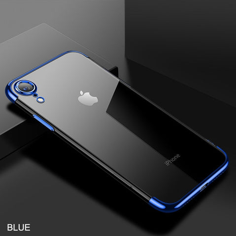 iPhone XR Case Anti-scratch Electroplating Protective Cover Blue-CoolDesignOnline