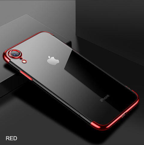 iPhone XR Case Anti-scratch Electroplating Protective Cover Red-CoolDesignOnline