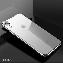 iPhone XR Case Anti-scratch Electroplating Protective Cover Silver-CoolDesignOnline