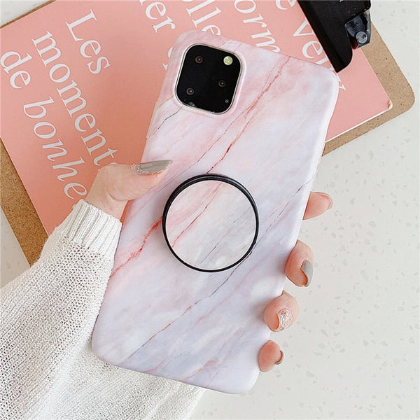 Classic Marble iPhone 11 Case Stand Holder iPhone Cover 2-CoolDesignOnline