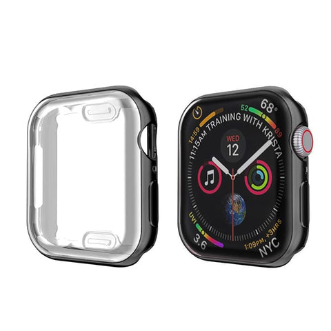 Apple Watch Case Series 4 44mm Protective Screen Protector Black-CoolDesignOnline