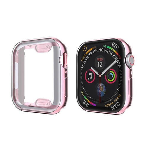 Apple Watch Case Series 5 44mm Screen Protector Rose Gold-CoolDesignOnline