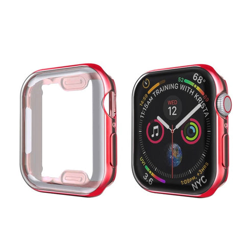 Apple Watch Case Series 4 44mm Protective Screen Protector Red-CoolDesignOnline