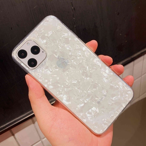 iPhone 11 Pro Case Glitter Sparkle Bling Crystal iPhone Cover White-CoolDesignOnline