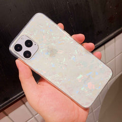 iPhone 11 Pro Max Case Glitter Sparkle Bling iPhone Cover Pearl White-CoolDesignOnline