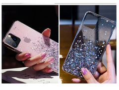 iPhone 11 Pro Max Case Luxury Sparkle Glitter Bling Sky Blue Cover-CoolDesignOnline