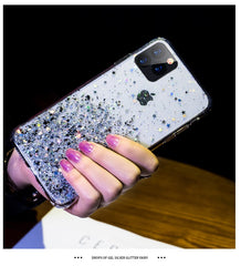 iPhone 11 Case Luxury Sparkle Glitter Bling Sky Blue Cover-CoolDesignOnline