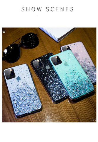 iPhone 11 Pro Max Case Luxury Sparkle Glitter Bling Pink Cover-CoolDesignOnline