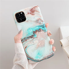 Blue White Marble iPhone 11 Case iPhone Cover-CoolDesignOnline