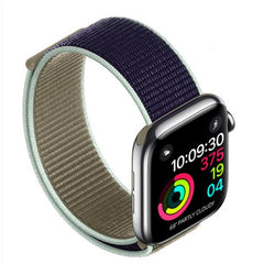 Apple Watch Band 3 Series 42mm Nylon Breathable Sport Loop Black Red-CoolDesignOnline