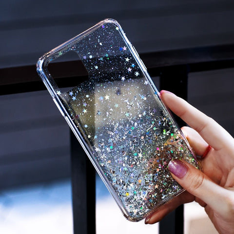 iPhone 11 Case Luxury Sparkle Glitter Bling Silver Cover-CoolDesignOnline