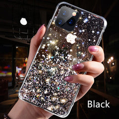 iPhone 11 Pro Case Luxury Sparkle Glitter Bling Black Cover-CoolDesignOnline