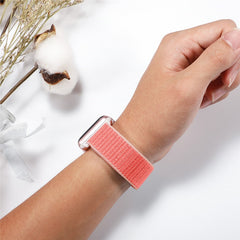 Apple Watch Band 3 Series 42mm Nylon Breathable Sport Loop Pink Sand-CoolDesignOnline