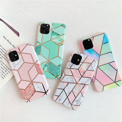 iPhone 11 Case Geometric Marble iPhone Cover T3-CoolDesignOnline