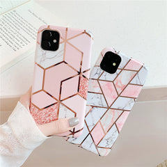 iPhone 11 Pro Max Case Geometric Marble iPhone Cover T5-CoolDesignOnline