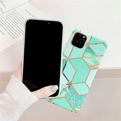 iPhone 11 Case Geometric Marble iPhone Cover T2-CoolDesignOnline