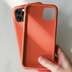 iPhone 11 Case Solid Candy Color iPhone Cover Coral Orange-CoolDesignOnline