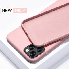 iPhone 11 Pro Case Solid Candy Color iPhone Cover Pink-CoolDesignOnline