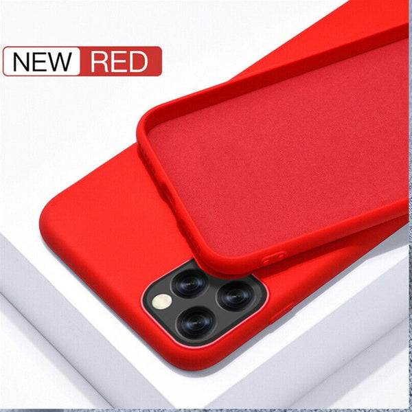 iPhone 11 Pro Case Solid Candy Color iPhone Cover Red-CoolDesignOnline