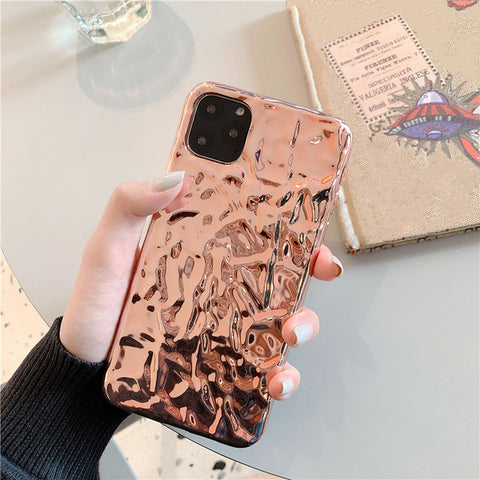 iPhone 11 Pro Case Clear Electroplate Cute iPhone Cover Rose Gold-CoolDesignOnline