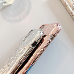 iPhone 11 Pro Max Case Clear Electroplate Cute iPhone Cover Rose Gold-CoolDesignOnline
