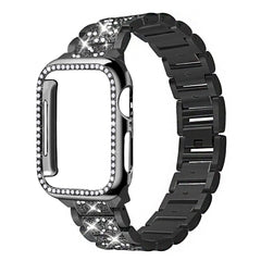 Apple Watch Band Stainless Steel Series 5 44mm Bracelet With Case Black-CoolDesignOnline