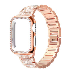 Apple Watch Band Stainless Steel Series 5 40mm Bracelet With Case Rose Gold-CoolDesignOnline