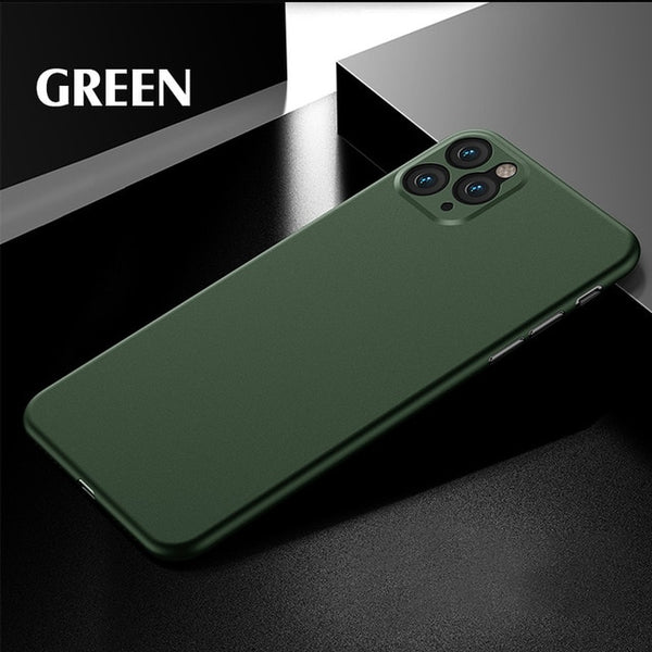 iPhone 11 Pro Max Case Luxury 0.3mm Ultra Thin iPhone Cover Green-CoolDesignOnline