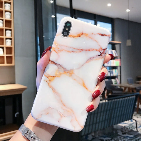 Marble iPhone X Case iPhone Cover 7-CoolDesignOnline