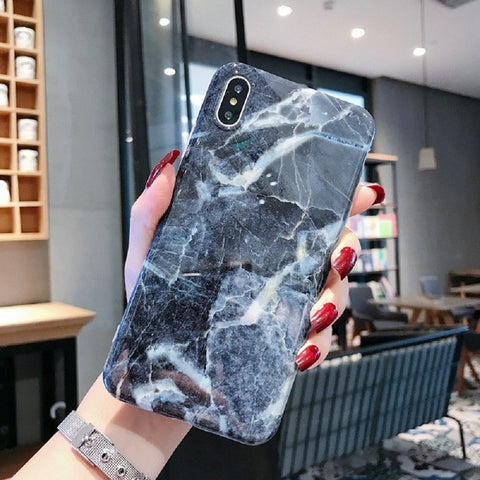 iPhone XS Max Case Marble Texture iPhone Cover 21-CoolDesignOnline