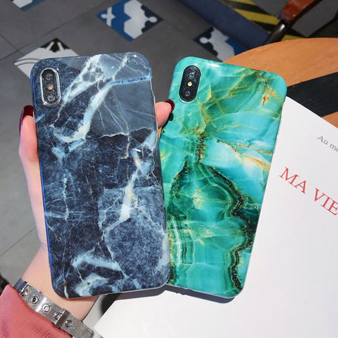 iPhone XS Max Case Marble Texture iPhone Cover 7-CoolDesignOnline