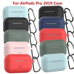 AirPods Pro Case Pink Silicone Case With Keychain AirPods Case-CoolDesignOnline