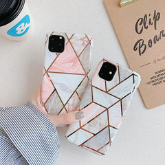 iPhone 11 Case Geometric Marble iPhone Cover T8-CoolDesignOnline