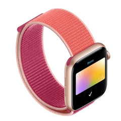 Apple Watch Band 3 Series 38mm Nylon Breathable Sport Loop Strip Pink-CoolDesignOnline