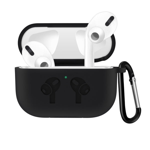 AirPods Pro Case With Keychain Protective AirPods Case Black-CoolDesignOnline