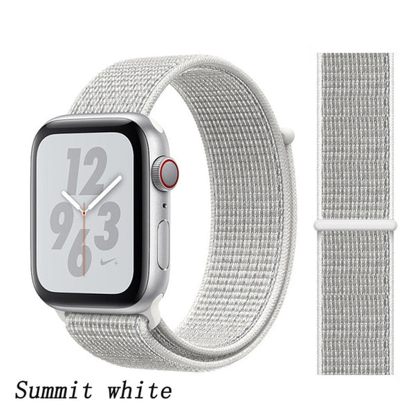 Apple Watch Band 4 Series 44mm Nylon Sport Loop Summit White-CoolDesignOnline