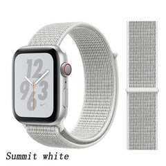 Apple Watch Band 5 Series 44mm Nylon Sport Loop Summit White-CoolDesignOnline