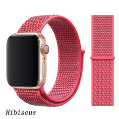 Apple Watch Band 1 Series 38mm Nylon Breathable Sport Loop Hibiscus-CoolDesignOnline