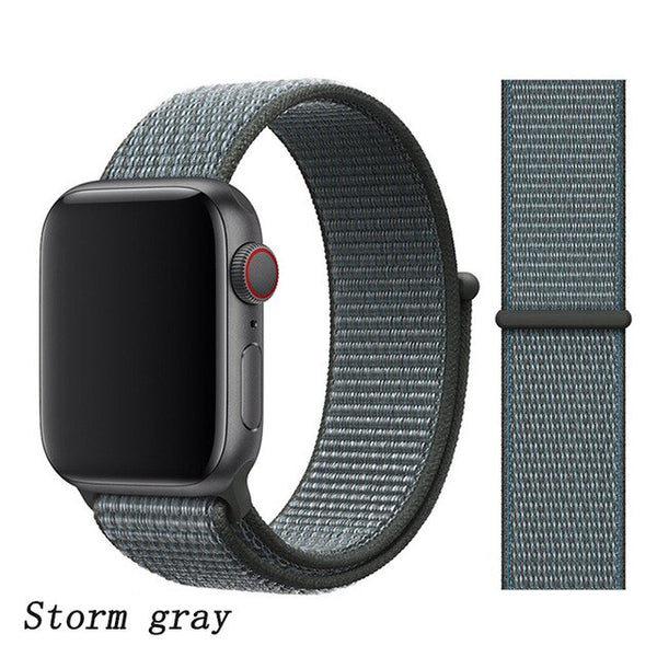Apple Watch Band 2 Series 42mm Nylon Breathable Sport Loop Storm Gray-CoolDesignOnline