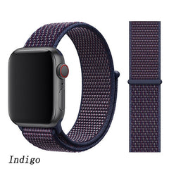 Apple Watch Band 5 Series 40mm Nylon Breathable Sport Loop Indigo-CoolDesignOnline