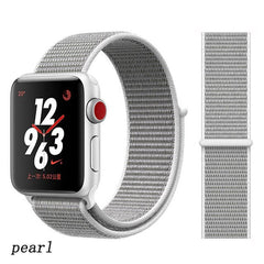 Apple Watch Band 4 Series 44mm Nylon Breathable Sport Loop Pearl-CoolDesignOnline