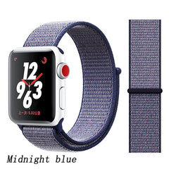 Apple Watch Band 5 Series 44mm Nylon Sport Loop Midnight Blue-CoolDesignOnline