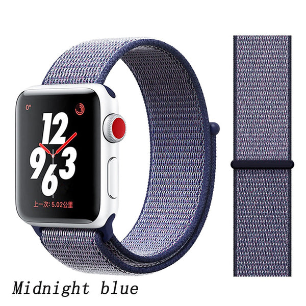 Apple Watch Band 1 Series 38mm Nylon Sport Loop Midnight Blue-CoolDesignOnline